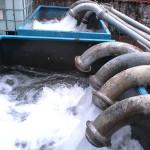 Dettaglio di un impianto di monitoraggio/trattamento delle acque di falda con portate di 15-20.000 l/min