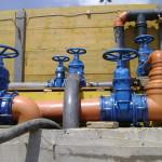 Dettaglio dell'impianto per la gestione delle acque di falda in esteso cantiere a Chiasso con portata massima del pompaggio di 30'000 l/min