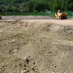 Scavi settoriali e separazione del materiale nell'area di un'impresa edile